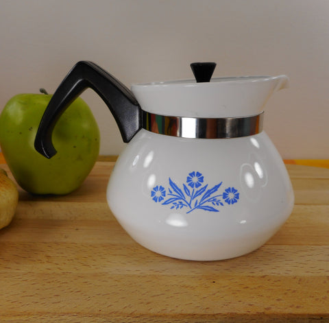 Corning Ware Cornflower Blue Small P-103 Teapot Kettle 3 Cup