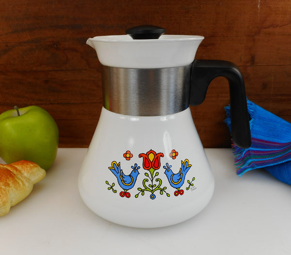 Corning Ware Country Festival Friendship - 6 Cup Coffee Tea Pot - Water Kettle P-106