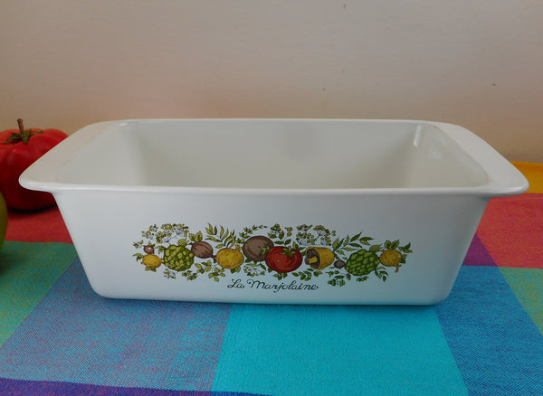 Corning Ware La Marjolaine Spice of Life - Banana Bread Meat Loaf Pan 9x5x3