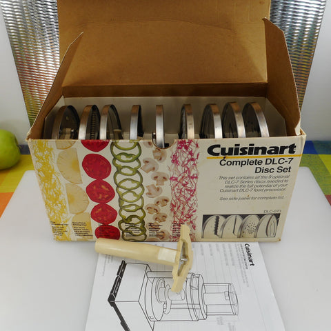 Cuisinart Complete DLC-7 Food Processor 9 Disc Set in Box - Vintage Japan