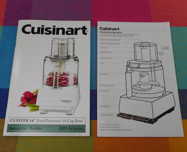 Cuisinart DFP-14 Series 14 Cup Food Processor Instruction Booklet Manual Set Up Guide