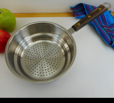 "Cuisinart France Stainless Steamer Insert for Sauce Pan 7"" - Wood Handle"