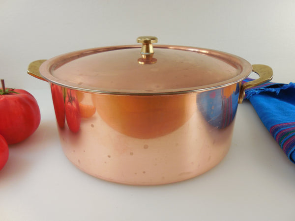 Spring Culinox Switzerland Copper Brass Stainless Cookware - 4 Quart Dutch Oven Pot