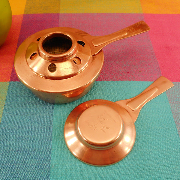 Spring Culinox Switzerland Copper Alcohol Burner Fondue Chafing