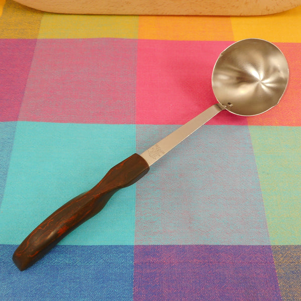 Cutco USA Stainless #15 Ladle Brown Orange Swirl Handle