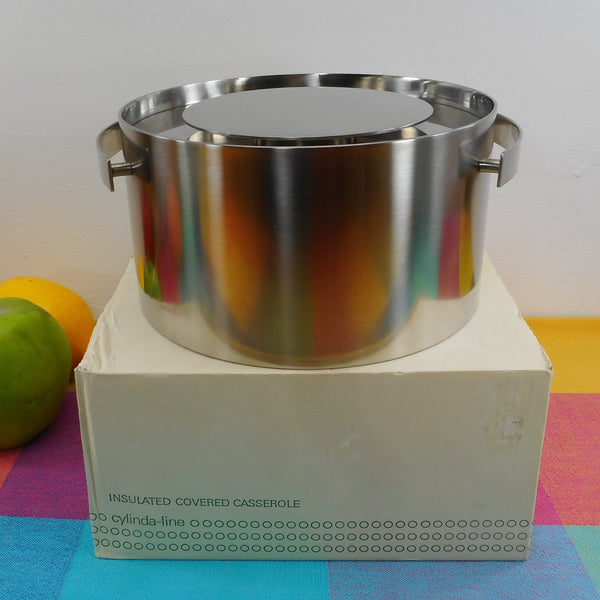 Stelton Denmark Cylinda-Line Arne Jacobsen - Insulated Covered Casserole New Old Stock in Box
