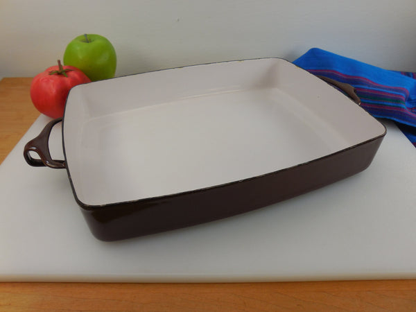 Dansk France - Enamelware Brown 10x13 Casserole Baking Pan - Kobenstyle
