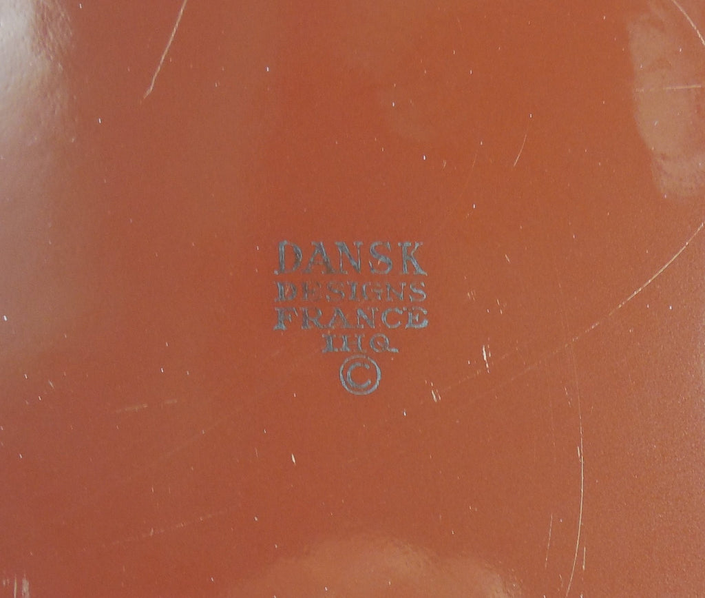 Vintage Dansk France - Enamelware Brown Small Casserole Baking Pan Brand Name View
