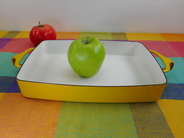 Dansk France - Enamelware Yellow Small 8 x 11 Casserole Baking Pan - Kobenstyle