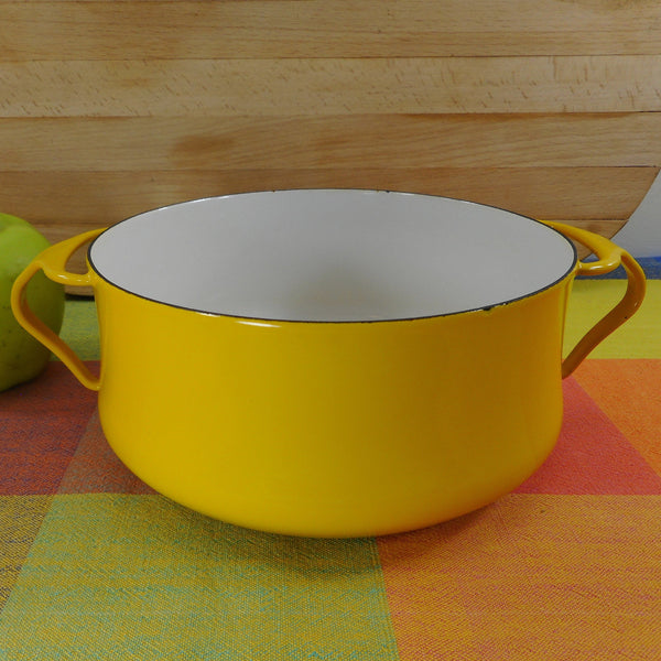 Dansk France - Vintage Kobenstyle Casserole Pot Dutch Oven - 2 Quart Yellow White No Lid