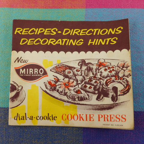 Mirro Aluminum Dial-A-Cookie Press Spritz Maker - Instruction Booklet