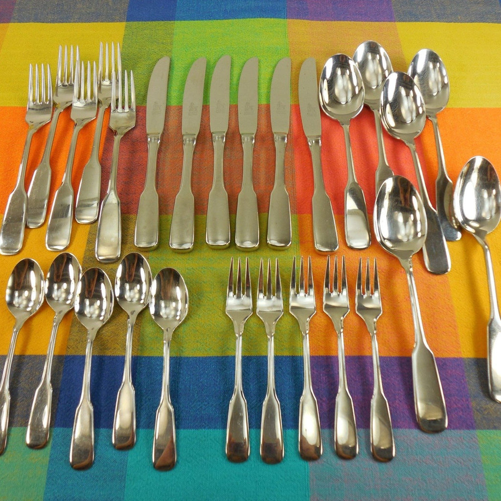 Drache Rocroni Flatware - Solingen Germany Rostfrei Stainless... 27 Pieces Knives Forks Spoons
