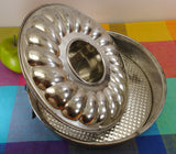 "Dr Oetker Germany - 10-1/4"" Combo Round Cake Bundt Removable Spring Form Pan Tin Steel"