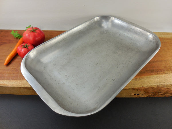Club Aluminum Cookware Vintage Hammercraft - Large Open Roasting Broiling Pan 12x18