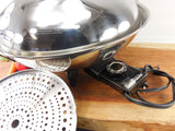 Vintage Farberware Stainless Electric Wok Model 343A - Controller View