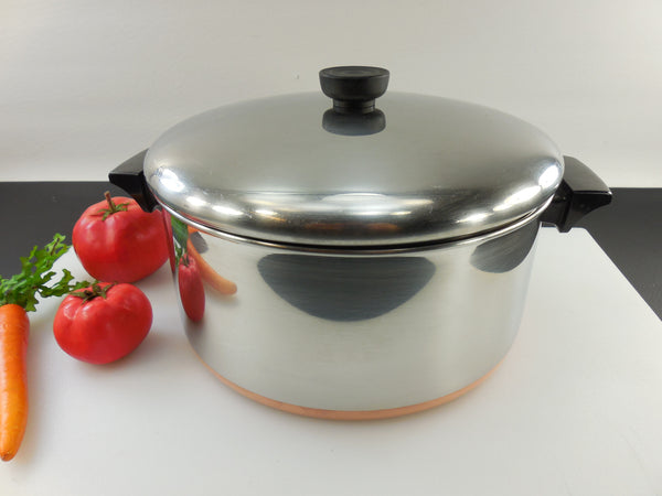 SOLD Revere Ware Wide 6 Quart Stock Pot Lid - Dutch Oven - Copper Clad Stainless