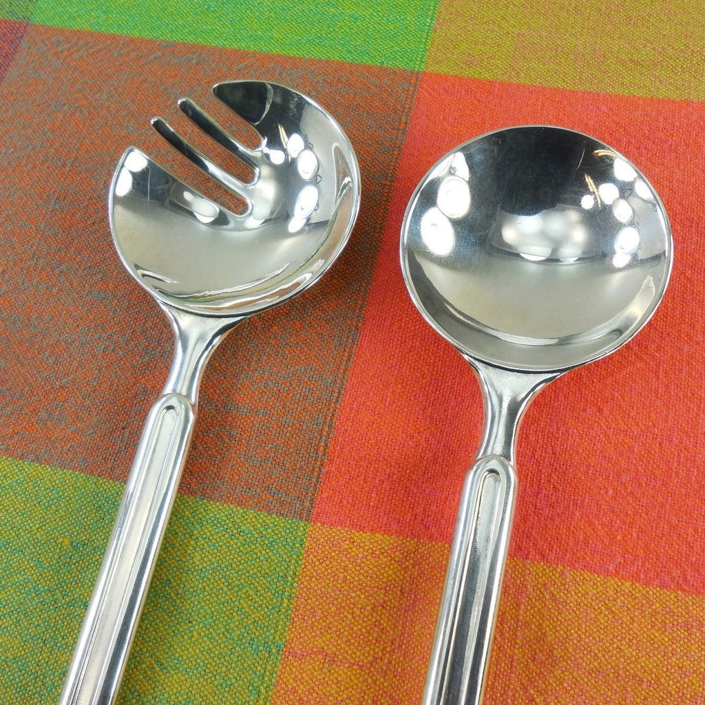 Modernist Ep Zinc Silverplate Italy Salad Server Set