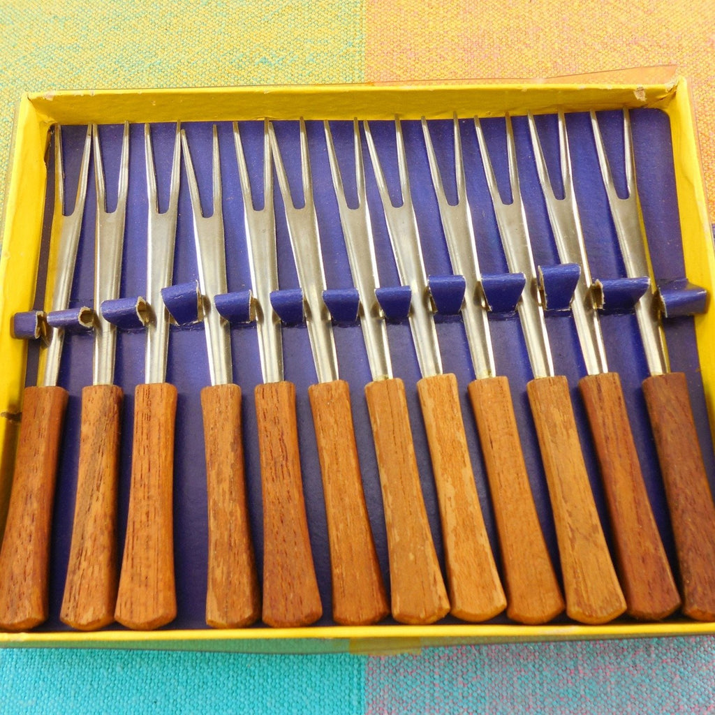 Mid Century Hors devours Cheese Cocktail Forks Picks