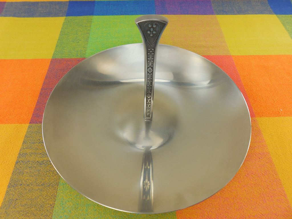 Vintage Cordova 1969 Stainless Steel Tidbit Appetiser Dessert Serving Tray Top View