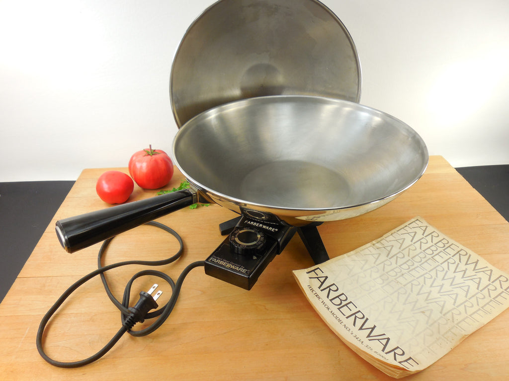 Farberware Electric Wok Model B 2000 Stainless Steel With