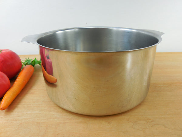SOLD... Triplinox France 18/10 Stainless 3 Quart Saucepan Pot - No Handle or Lid - Vintage Cookware