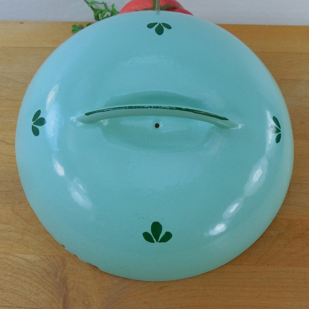 Dru Holland Green Tulip Enamel Cast Iron Replacement Lid - Green Tulip 7""