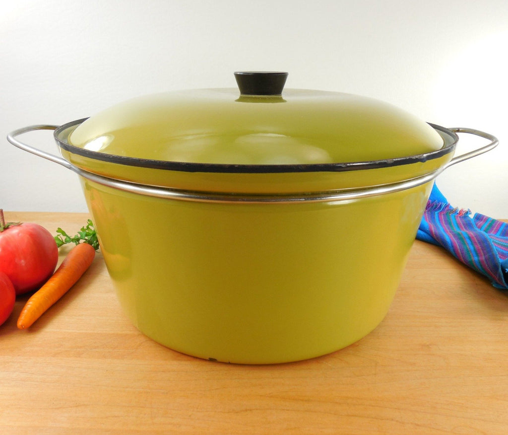 Vintage Cathrineholm Norway - Large 8 Qt Dutch Oven