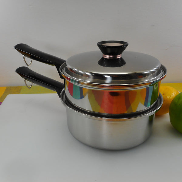 Duncan Hines Regal Ware 2-3 Quart Saucepan Double Boiler Set