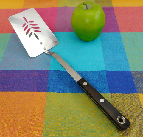 "Ekco Arrowhead USA - Rare 13"" Stainless Spatula Wood Handle Modern"