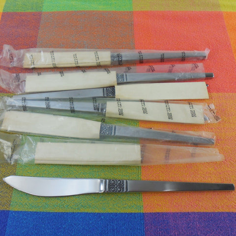 Vintage Ekco Eterna Japan - 6 Set GEMINI Steak Knives