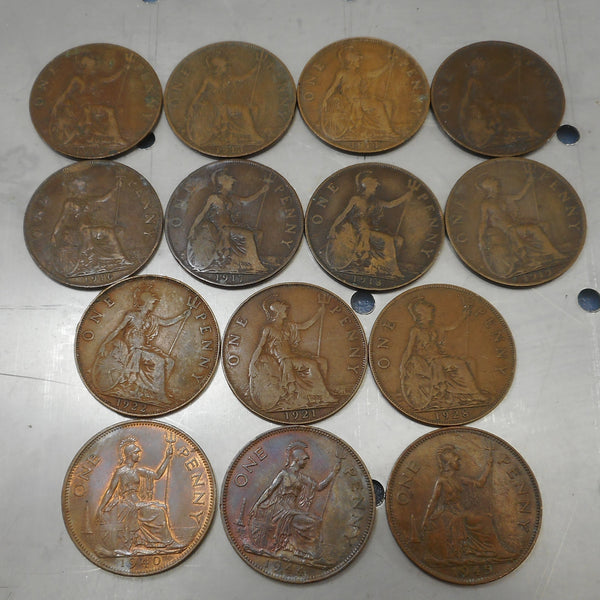 Great Britain King George V & VI Large One Copper Pennies