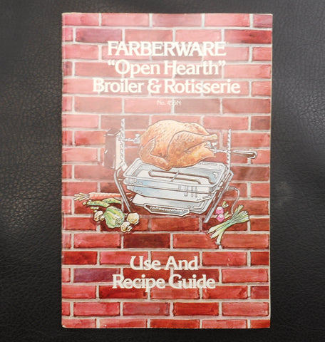 Farberware Electric Open Hearth Broiler Rotisserie Instruction Manual Recipes 450N 455N