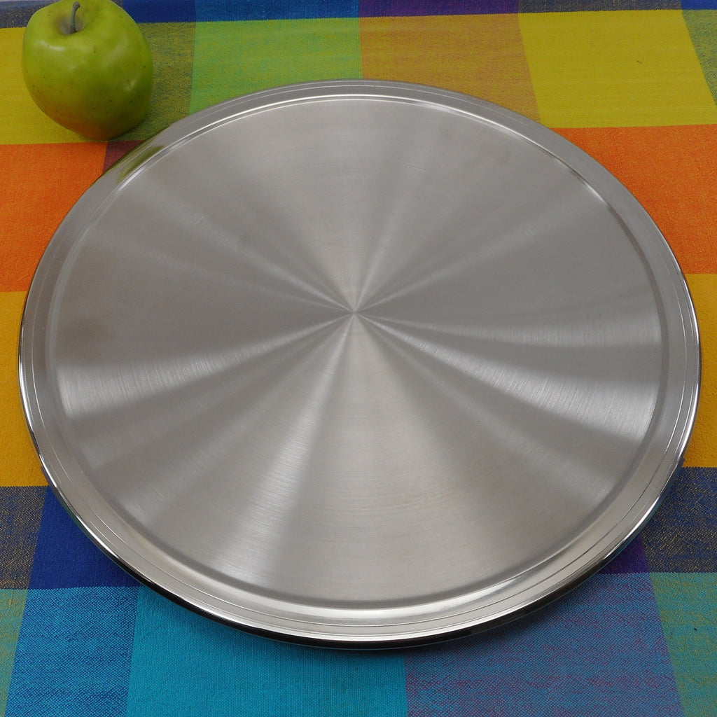 "FrontGate Italy 18/10 Stainless Hot/Cold Thermostatic Insulated 14"" Serving Tray Platter"