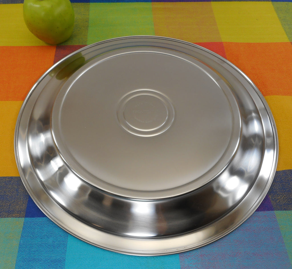 "FrontGate Italy 18/10 Stainless Hot/Cold Thermostatic Insulated 14"" Serving Tray Platter Oil Filled"
