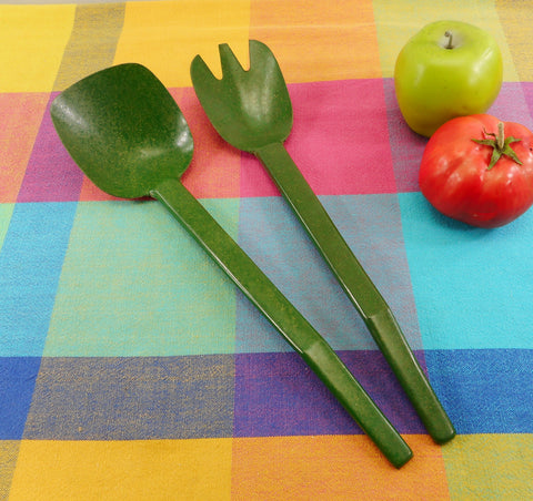 Flintwood Ability Products 1950s Green Salad Server Set Tongs MCM