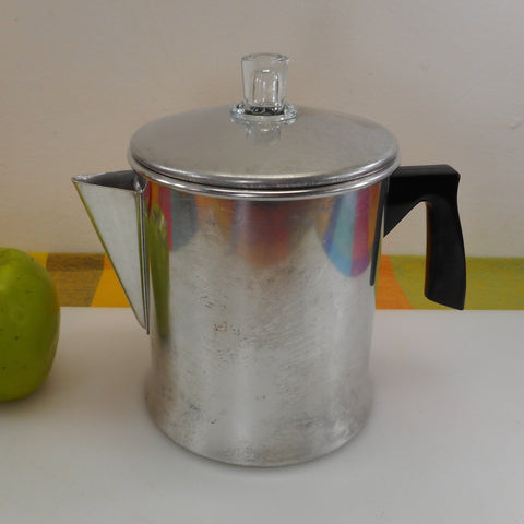 Foley USA Aluminum Stove Top Coffee Percolator Pot - 7 Cup