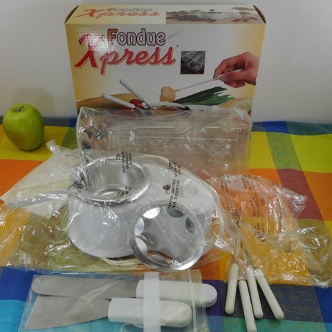 Fondue Xpress with Chocolate Candy Molds Complete Set
