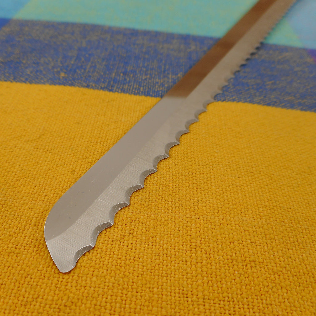 "Forgecraft USA 8.5"" Serrated Stainless Blade Slicing Bread Knife Vintage Used"