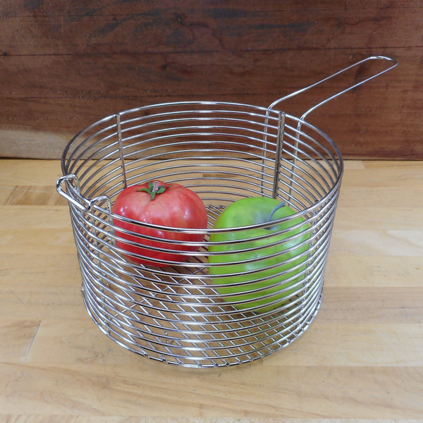 "Fry Basket 4 Quart Stainless Steel 8"" Round"