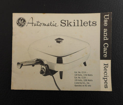 General Electric GE C114 Electric Skillet Manual Instruction Booklet