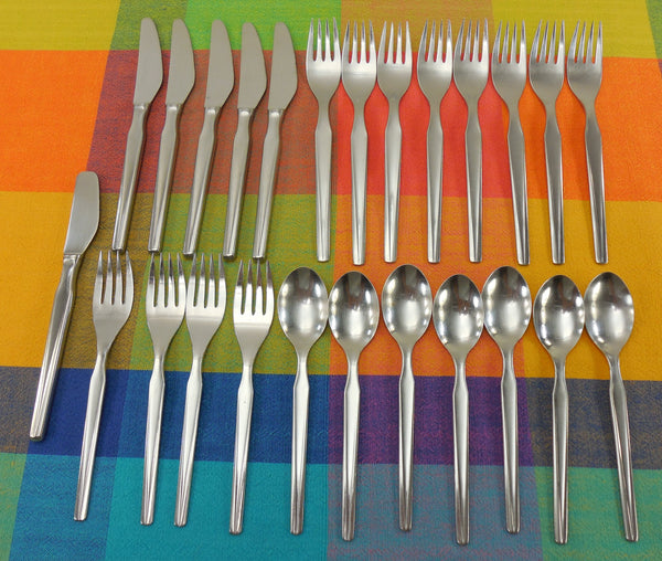 Continental Germany - CSS10 Stainless Flatware Fork Spoon knife - MCM 25 Lot