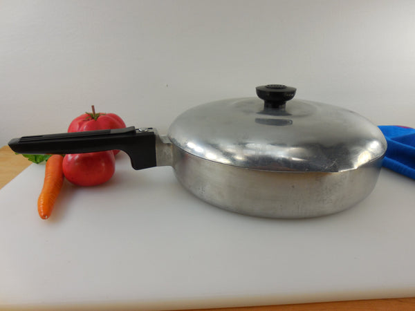 "SOLD...  GHC Magnalite Aluminum Vintage 10"" Fry Pan Skillet with Lid - USA"