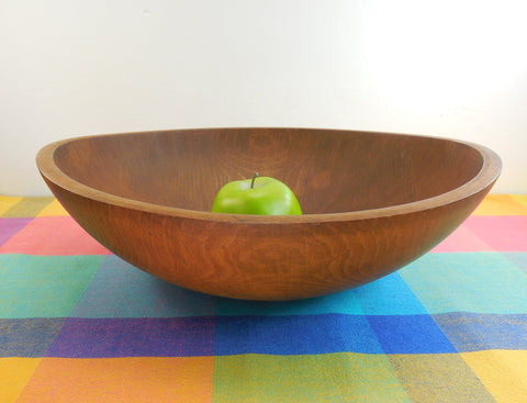 "GMS Vermont Honey Maple Wood Dough Bowl - Large 15"" Hand Rubbed"