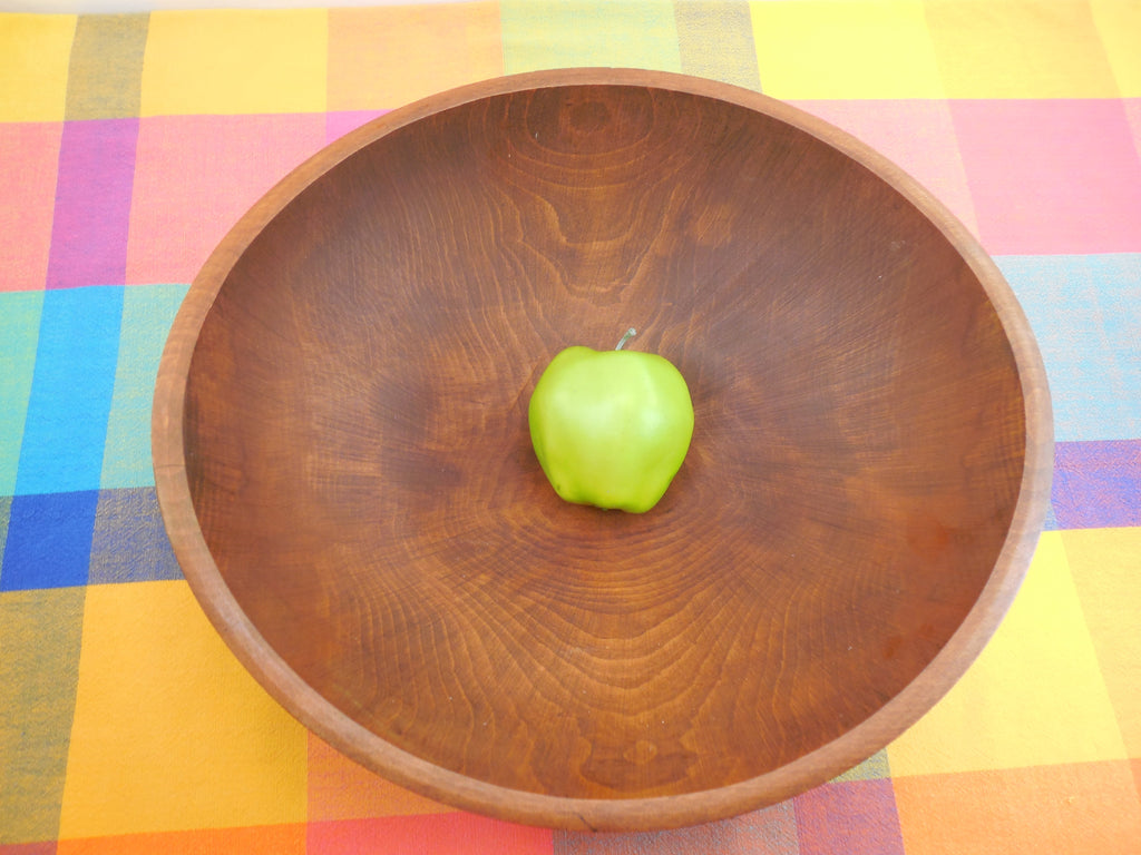 "GMS Vermont Honey Maple Wood Dough Bowl - Large 15"" Hand Rubbed Clean"
