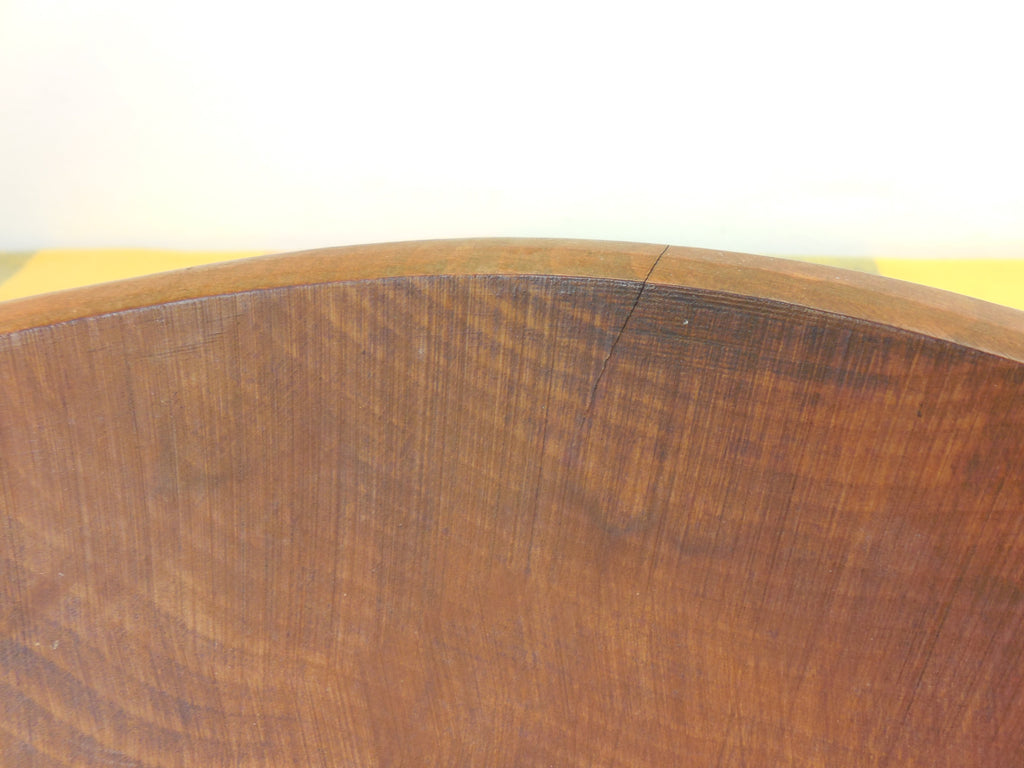 "GMS Vermont Honey Maple Wood Dough Bowl - Large 15"" Hand Rubbed... crack"
