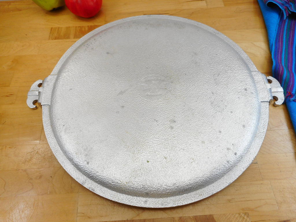 "Guardian Service Vintage Aluminum Cookware - Large Round 15"" Pizza Serving Platter Used"