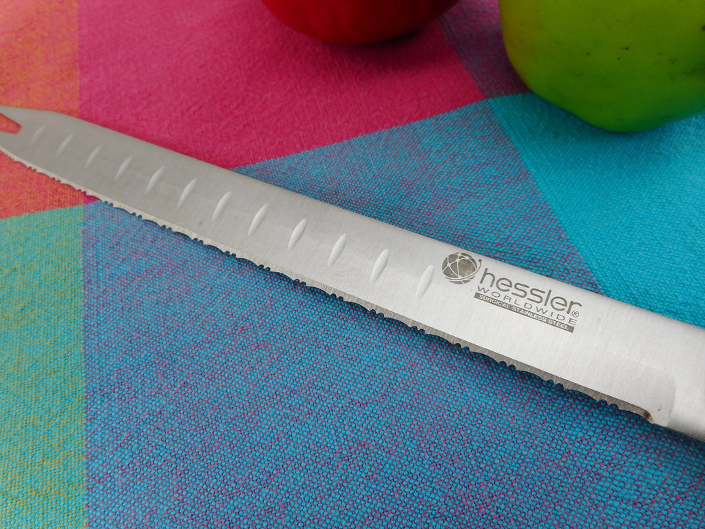 "Hessler Worldwide Surgical Stainless 8"" Serrated Carving Knife Pre-owned"