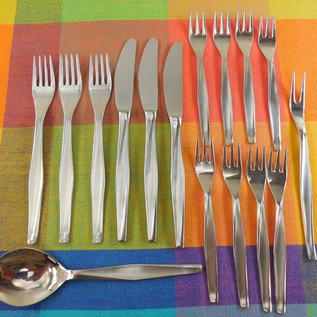 Herbert Gosebrink HGS Solingen Germany - Modern Flatware Lot Stainless Knife Fork Spoon