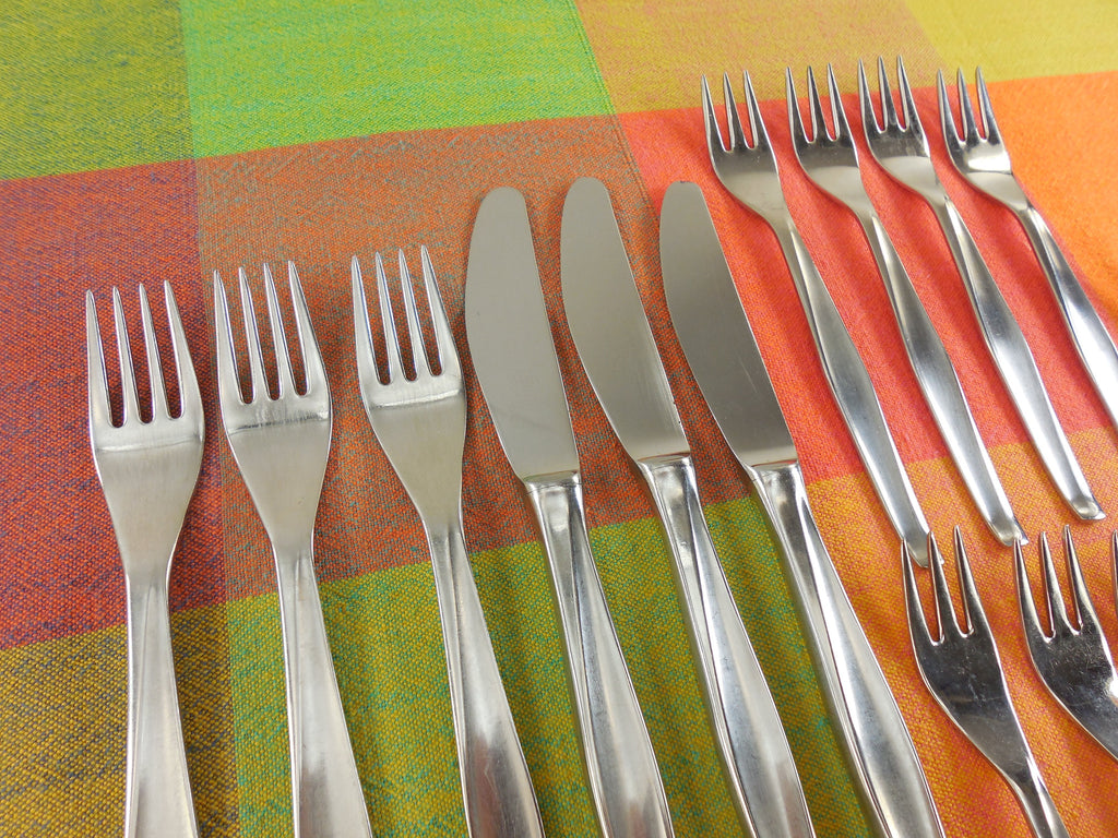 Herbert Gosebrink HGS Solingen Germany - Modern Flatware Lot Stainless Knife Fork Spoon knives