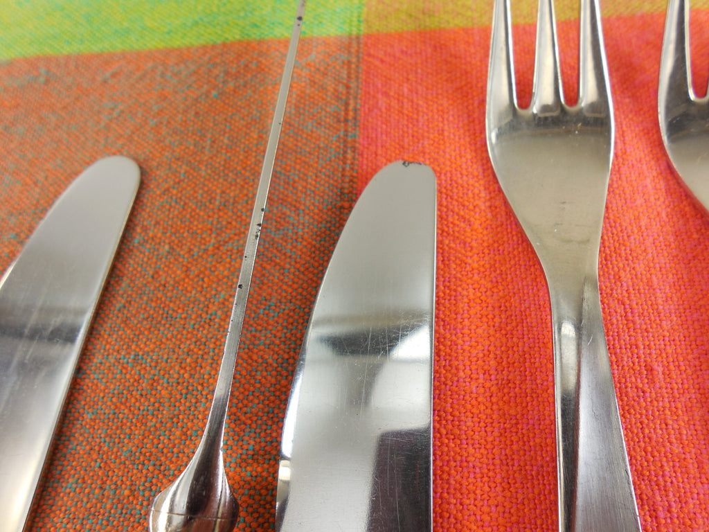 Herbert Gosebrink HGS Solingen Germany - Modern Flatware Lot Stainless Knife Fork Spoon blade